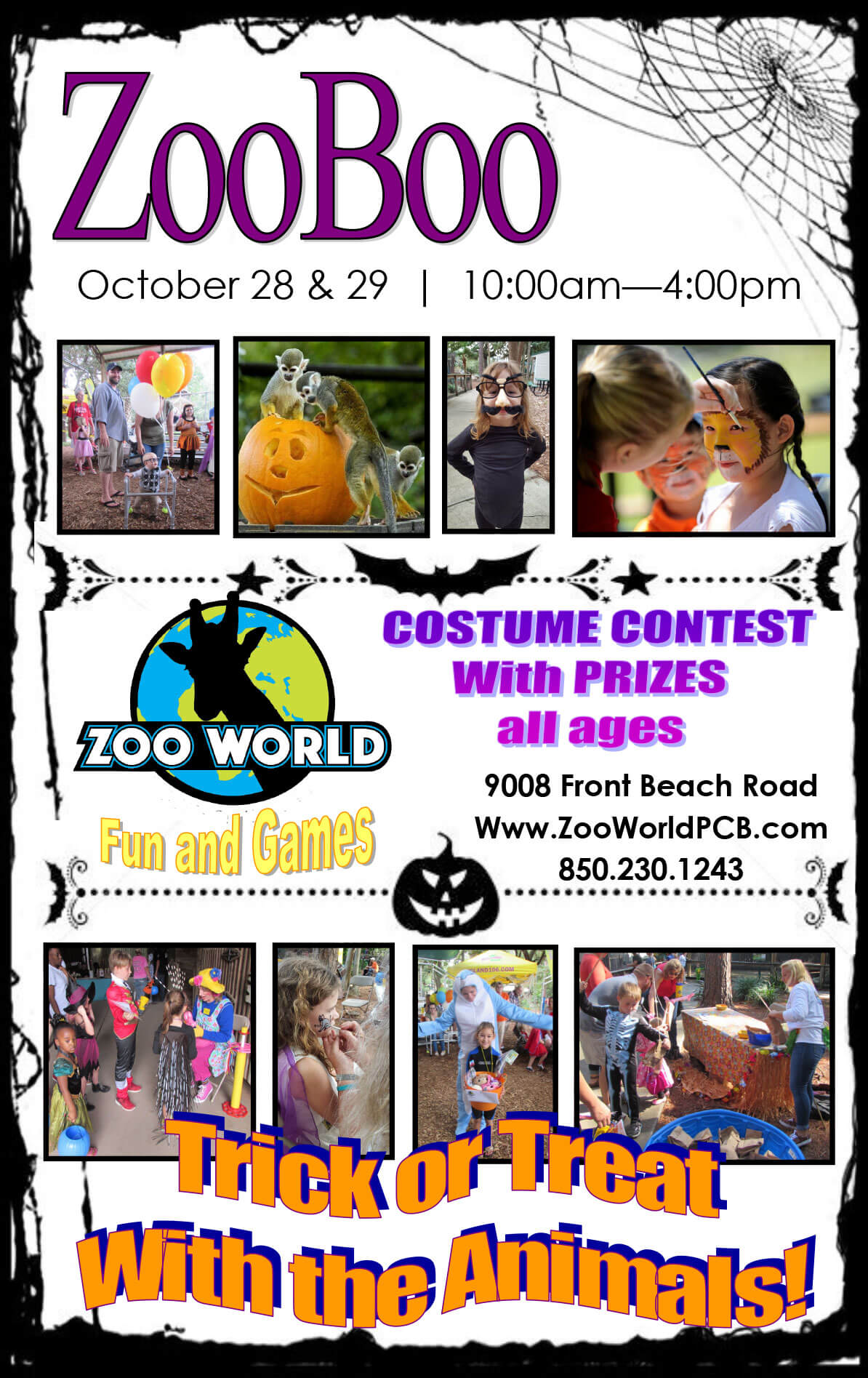 Zoo Boo - Trick or Treat with the Animals at Zoo World Panama City Beach